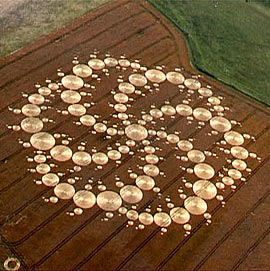Crop Circle from Milkhill England, 8-17-01